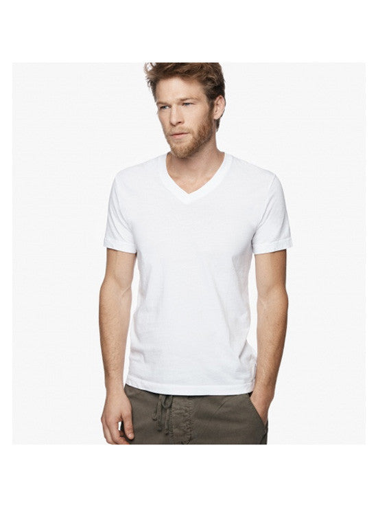James Perse Short Sleeve V-neck / White