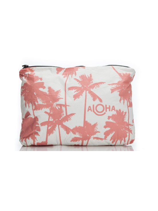 Aloha Collection: mid-size Coco Palms, coral print
