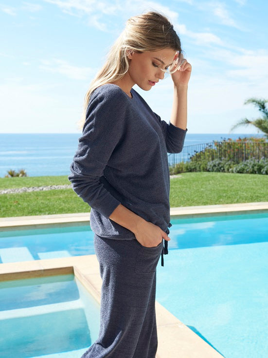 BAREDFOOT DREAMS: the COZYCHIC ULTRA LITE® SLOUCHY PULLOVER PACIFIC BLUE