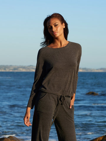 BAREDFOOT DREAMS: the COZYCHIC ULTRA LITE® SLOUCHY PULLOVER CARBON