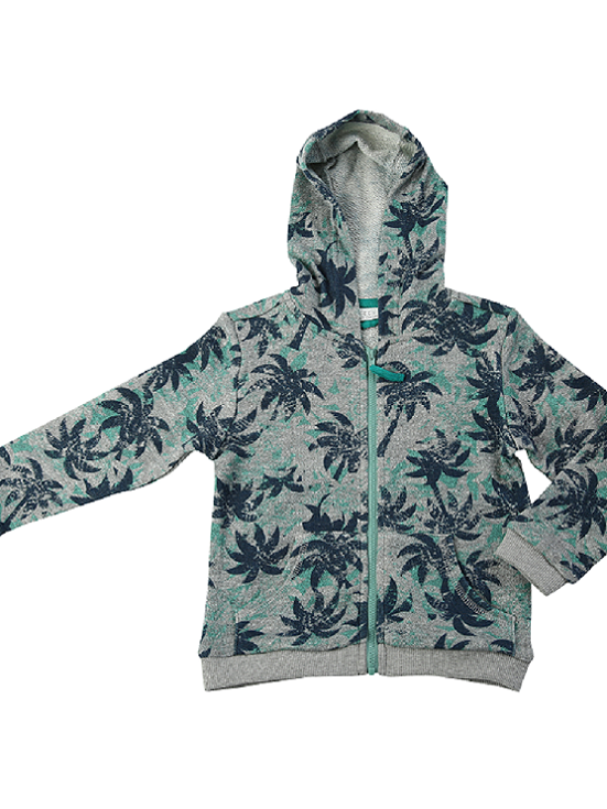 EGG by susan lazar: Tropical Print French Terry Zip Hoodie