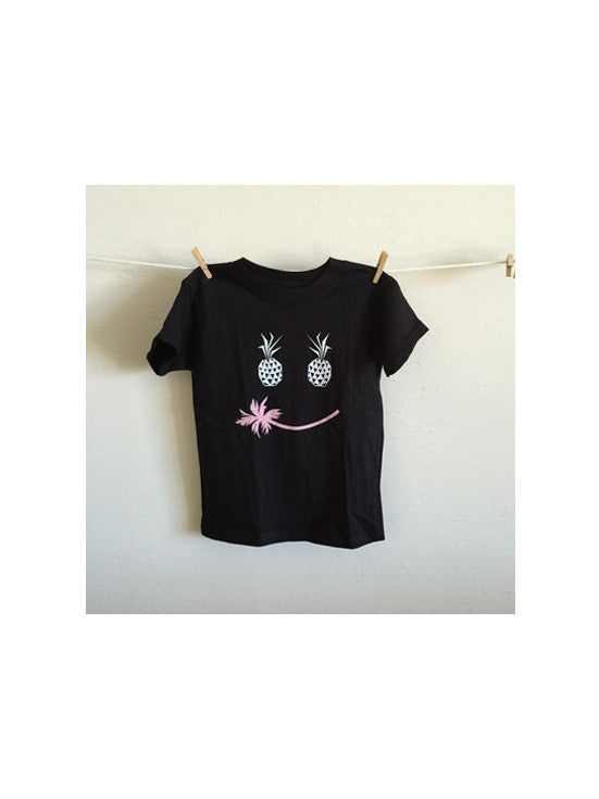Sticks + Stones Pineapple Smile Tee  / Black