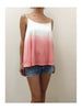 Libllis Stretch Dip Dye Cami Top / Pink