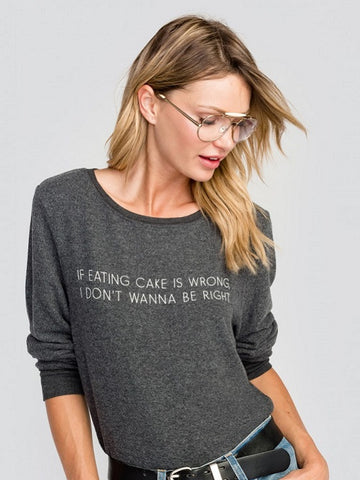 WILDFOX: Let Me Eat Cake Baggy Beach Jumper