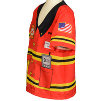 My 1st Career Gear Firefighter Top One Size Fits Most Ages 3-6