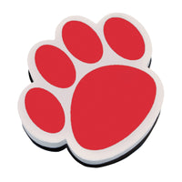 (6 Ea) Magnetic Whiteboard Eraser Red Paw
