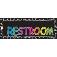 Laminated Chalk Restroom Pass