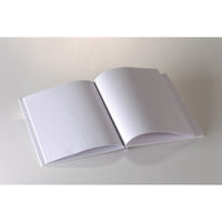 (6 Ea) White Hardcover Blank Book 11x8-1-2