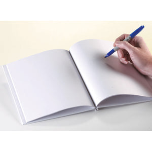 White Hardcover Blank Book 11x8-1-2