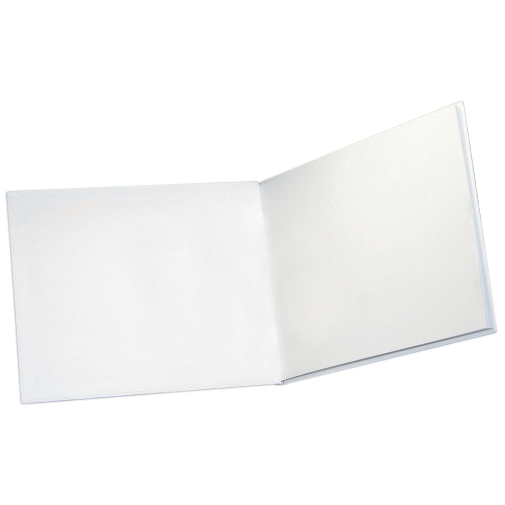 White Hardcover Blank Book 8.5 X 11