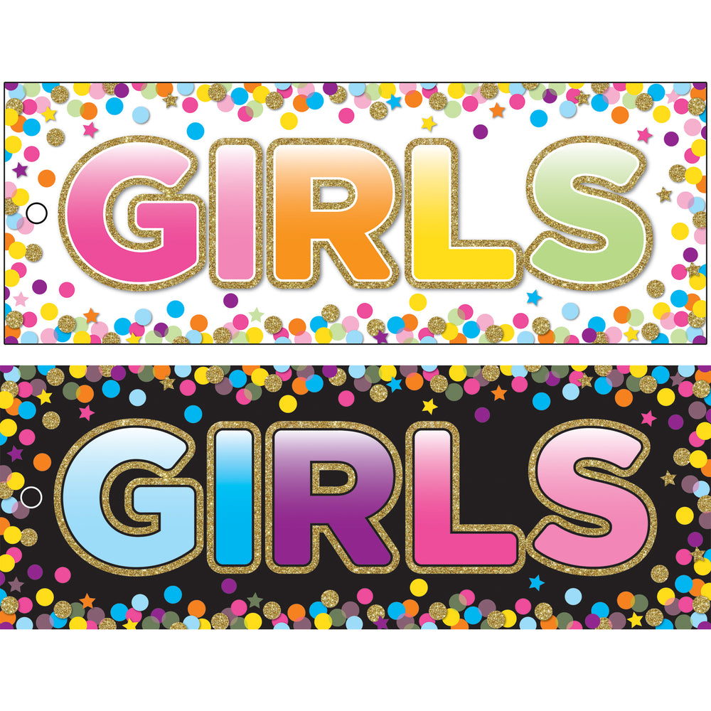 Girls Pass Confetti Laminate 2 Side