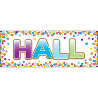Hall Pass Confetti Laminated 2 Sided