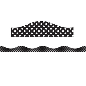 (3 Pk) Big Magnetic Border Black & White Dots