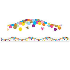 Magnetic Confetti Scallop Border 6 Pcs
