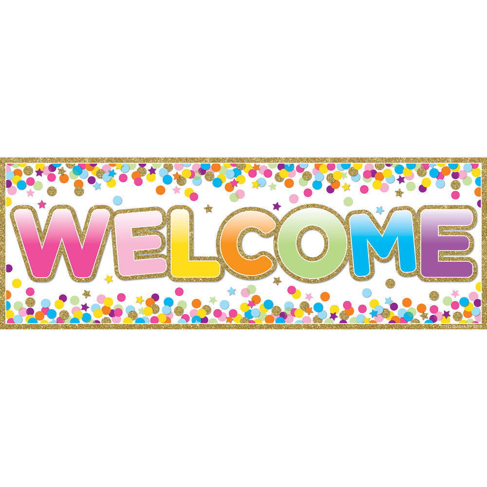 Magnetic Welcome Banner Confetti