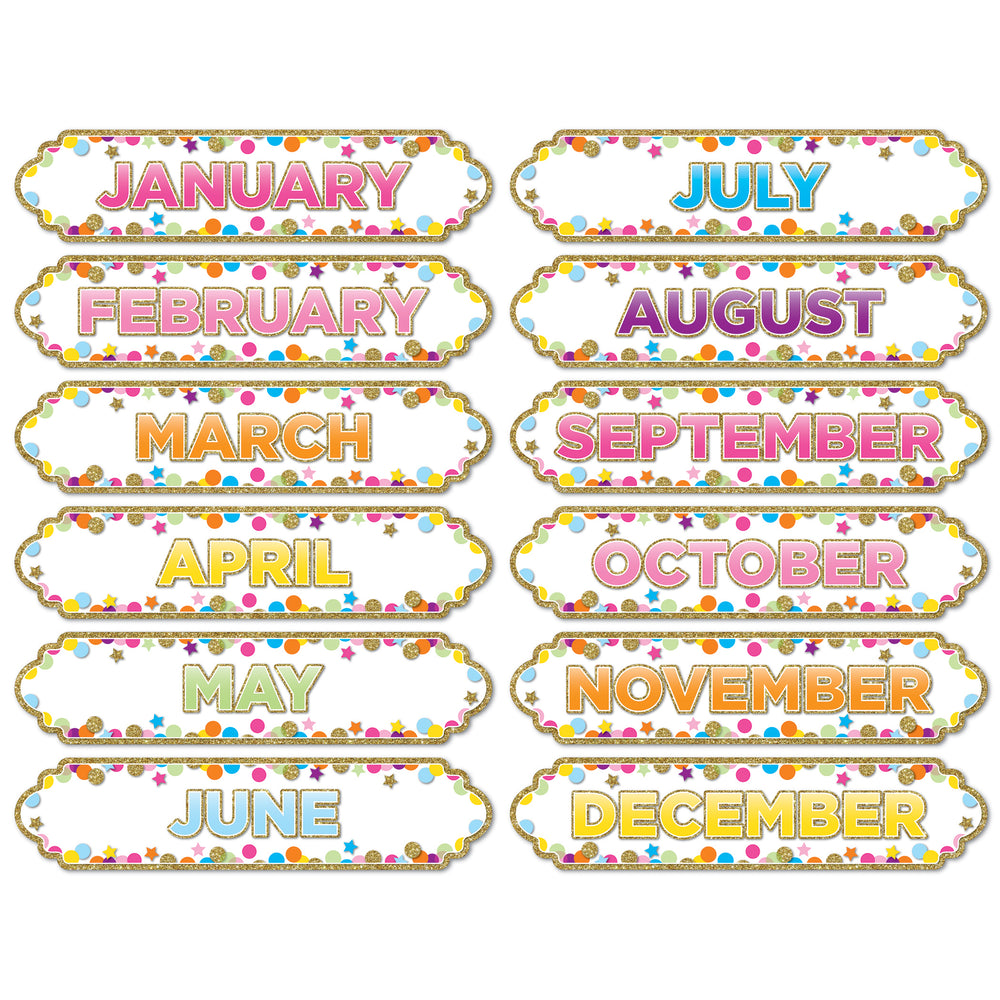 (5 Pk) Magnetic Confetti Months Of The Yr