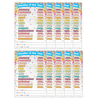 (10 Ea) Smart Confetti Months Of Yr Chrt Dry-erase Surface