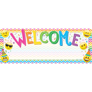 Smart Poly Welcome Banner Emoji Dry-erase Surface