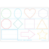 10pk Prewrite Shapes Mat 2 Side Write On Wipe Off