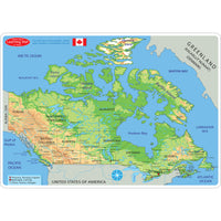 10pk Map Canada Learning Mat 2 Sided Write On Wipe Off