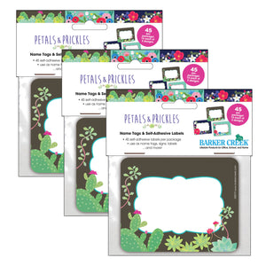 (3 Pk) Name Tags Petals & Prickles