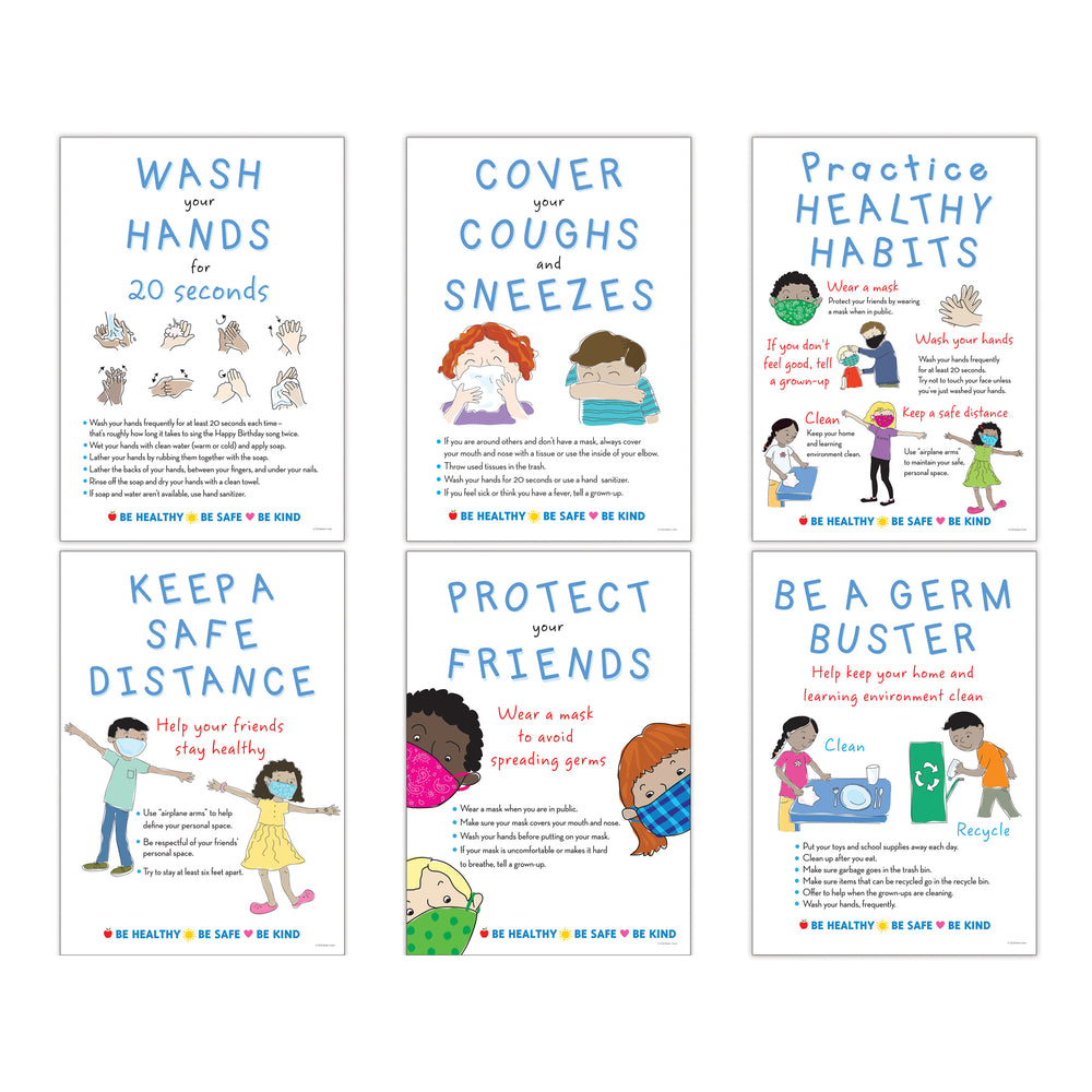 Be Healthy Be Safe Poster Set