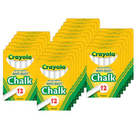 (24 Bx) Chalk Anti-dust White 12ct Per Bx