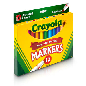 (6 Bx) Crayola Markers 12ct Per Bx Asst Colors Conical Tip