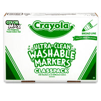 Crayola Washable Markers Classpack 200ct 8 Colors Broad Line