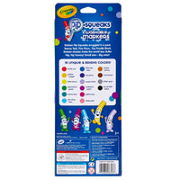 (4 Pk) Pip Squeaks Markers 16 Ct Short Washable In Peggable Pouch