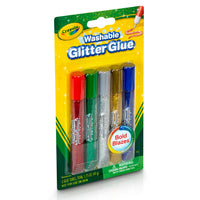(6 Pk) Washable Glitter Glue Bold 5ct