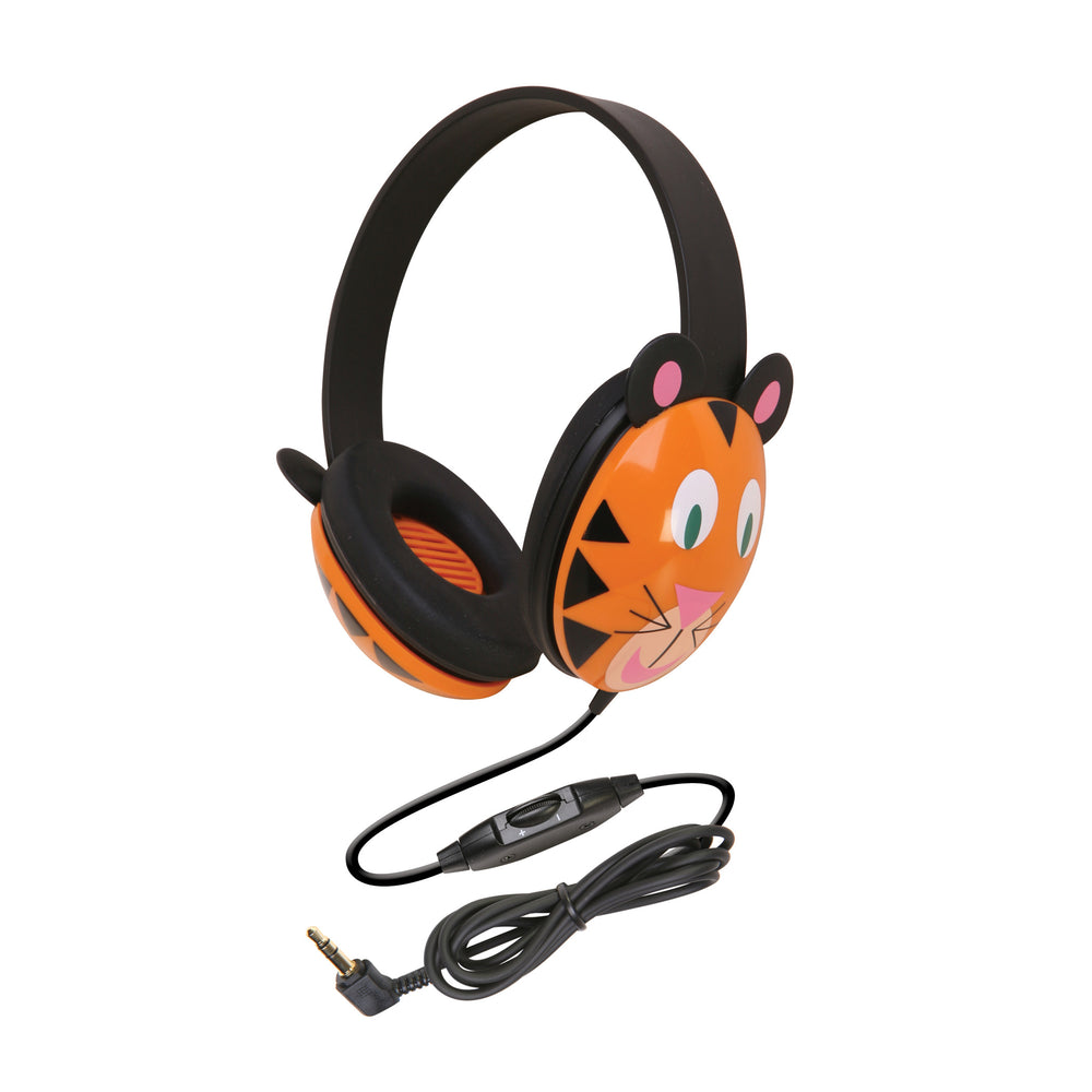 Listening First Animal-themed Stereo Headphones Tiger