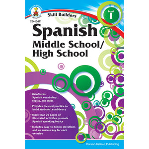 (6 Ea) Skill Builders Spanish Level 1 Workbook Grade 6-8