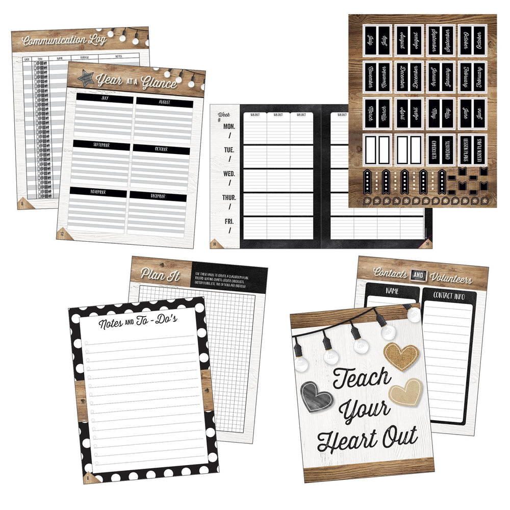 (2 Ea) Industrial Chic Teacher Plan Book