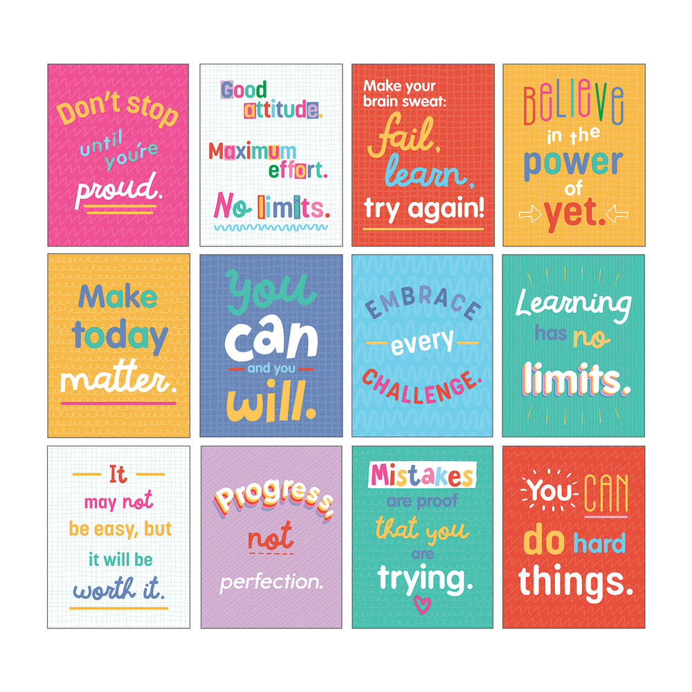 Growth Mindset Quotes Mini Posters