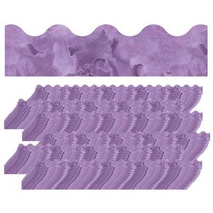 (6 Pk) Watercolor Purple Scalloped Borders Celebrate Learning