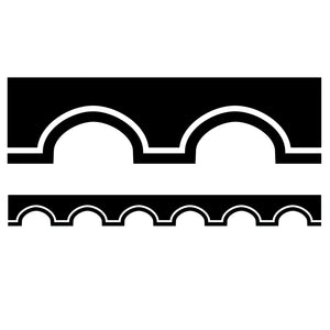 (6 Pk) Black & White Scalloped Borders Simply Stylish Awning