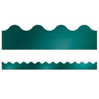 Teal Foil Scalloped Borders Sparkle And Shine