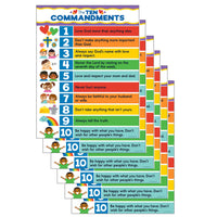 (6 Ea) Ten Commandments Chart