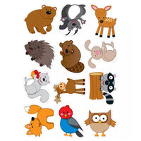 (6 Pk) Woodland Animals Cut Outs 36 Per Pk
