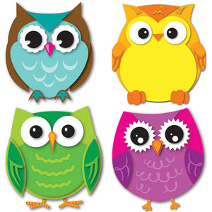 (6 Pk) Colorful Owls Cut Outs