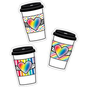 Rainbow To-go Cups Cut-outs Industrial Cafe