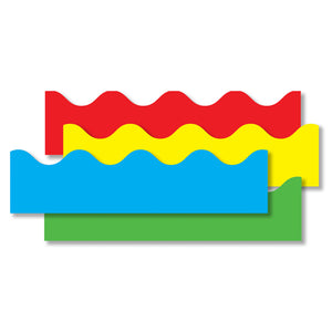 (2 Pk) Border Set Scalloped 4 Per Pk Red Yellow Green Blue