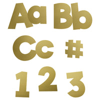 (2 Pk) Gold Foil Combo Pack 4in Ez Letters Sparkle + Shine