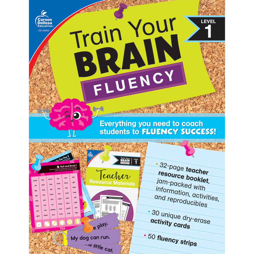 (2 Ea) Train Your Brain: Fluency Level 1