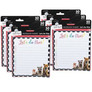 (6 Ea) Woodland Whmsy Lets Do This Notepad