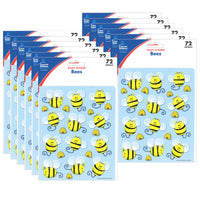 (12 Pk) Bees Shape Stickers 72 Per Pk