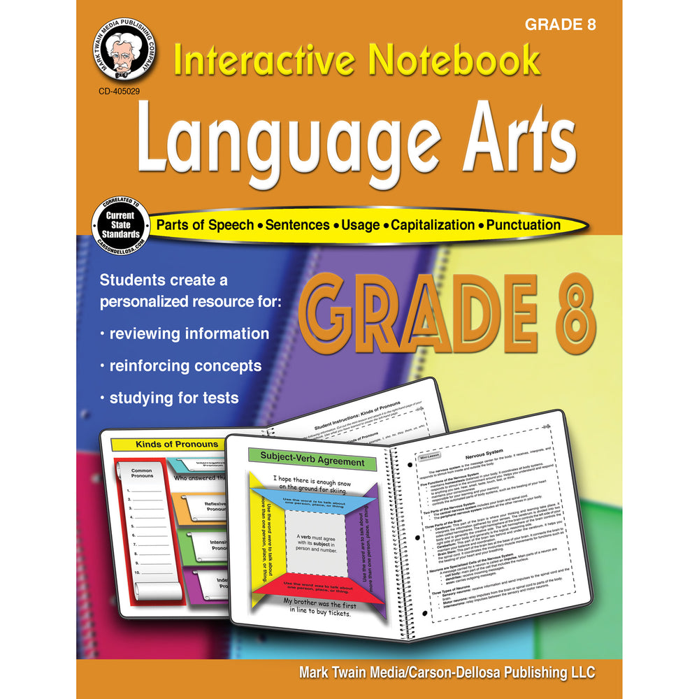 (3 Ea) Language Arts Workbook Gr 8 Interactive Notebook