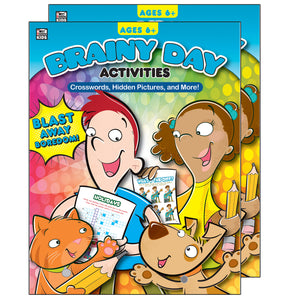 (2 Ea) Brainy Day Crosswords Hidden Pics And More Ages 6 - 8