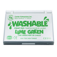 Stamp Pad Washable Lime Green